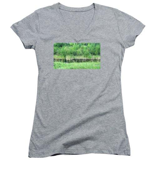 Green Grass Black Water Women's V-Neck