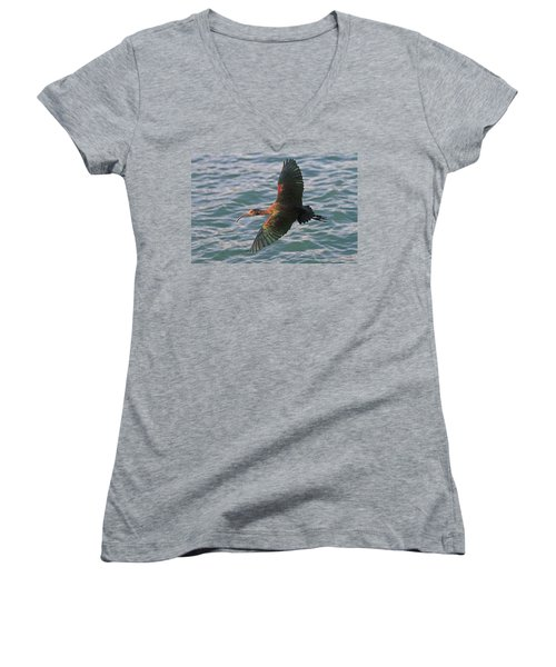 Green Ibis 6 Women's V-Neck (Athletic Fit)