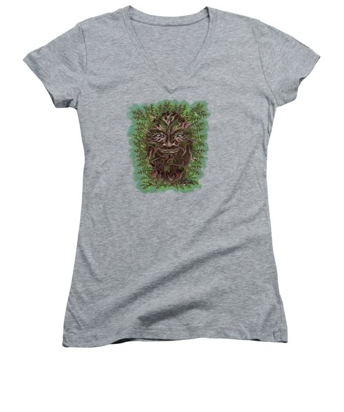 Green Man Of The Forest Women's V-Neck (Athletic Fit)