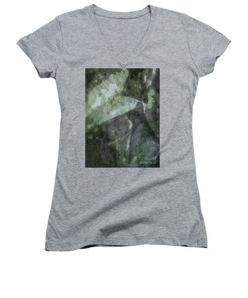 Green Mist Women's V-Neck T-Shirt