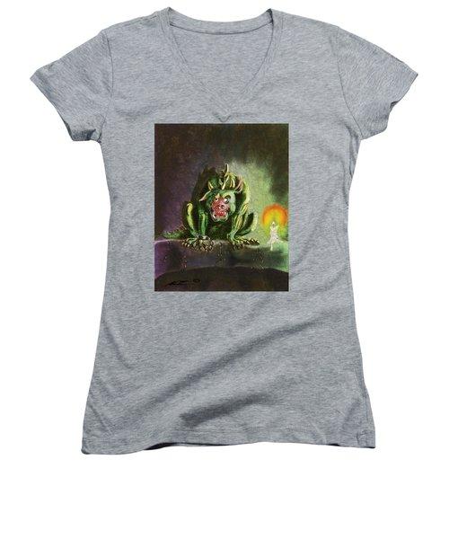 Green Monster Women's V-Neck T-Shirt