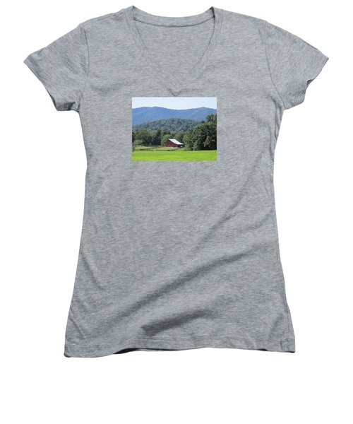 Mountain Barn Retreat Women's V-Neck (Athletic Fit)