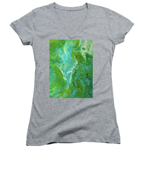 Green Waters Women's V-Neck (Athletic Fit)