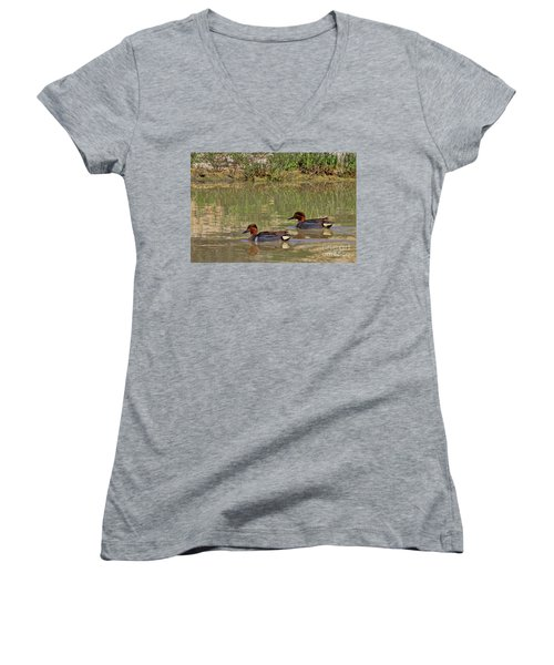 Green Winged Teal Women's V-Neck