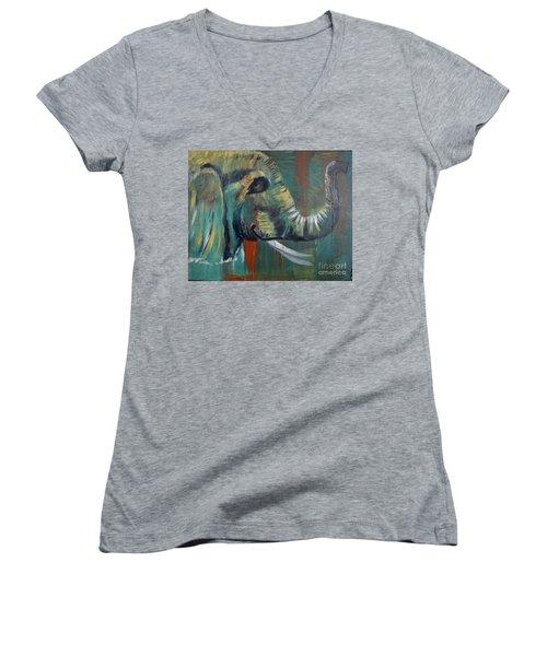Green Wonder Women's V-Neck T-Shirt (Junior Cut) by Stuart Engel