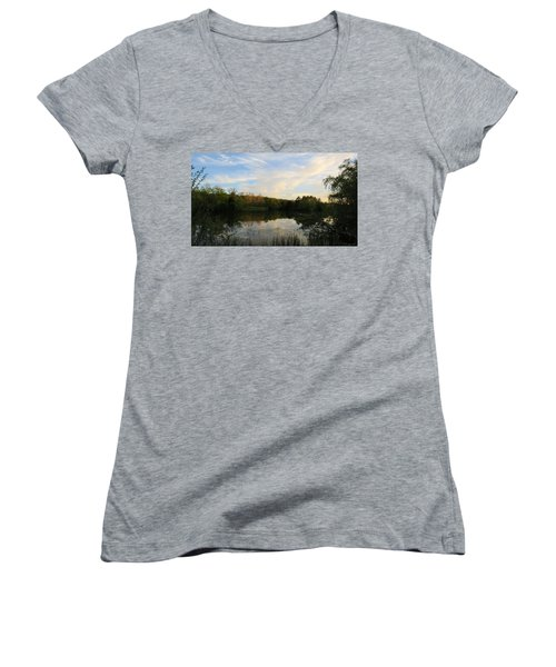Greenfield Pond Women's V-Neck T-Shirt
