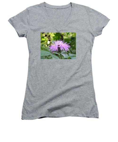 Greet The Day  Women's V-Neck T-Shirt