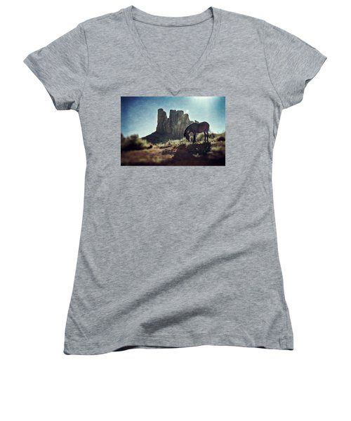 Greetings From The Wild West Women's V-Neck