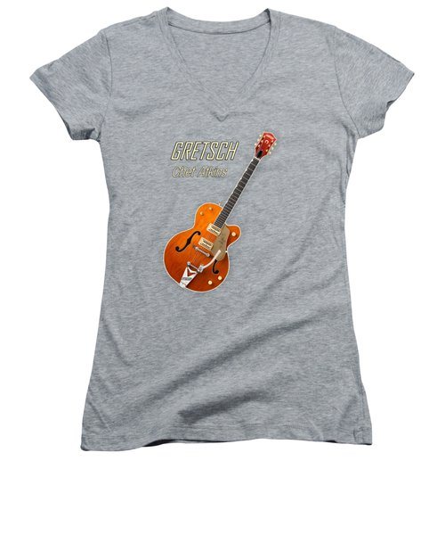 Gretsch  Chet Atkins Women's V-Neck T-Shirt