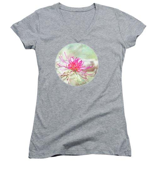 Grevillea Women's V-Neck T-Shirt (Junior Cut) by Linda Lees