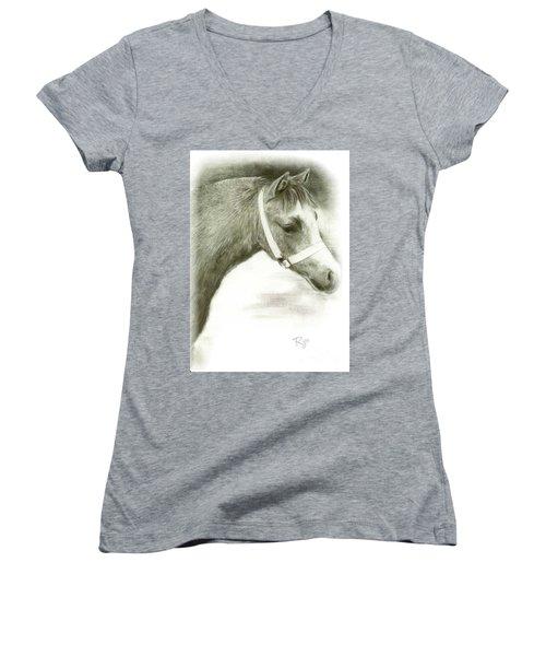 Grey Welsh Pony  Women's V-Neck