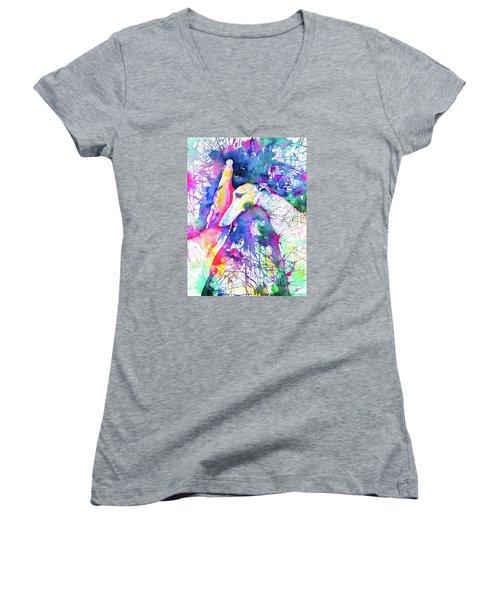 Greyhound Trance Women's V-Neck T-Shirt