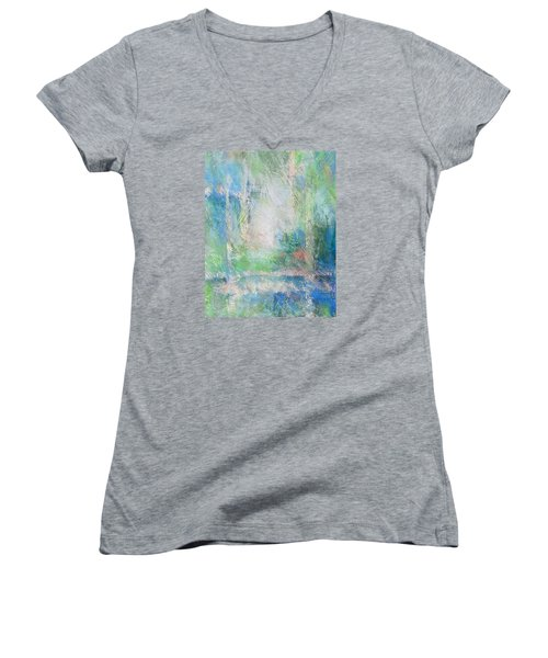 Grid Women's V-Neck T-Shirt (Junior Cut) by Becky Chappell