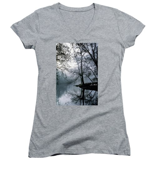 Grings Mill Fog 1043 Women's V-Neck T-Shirt