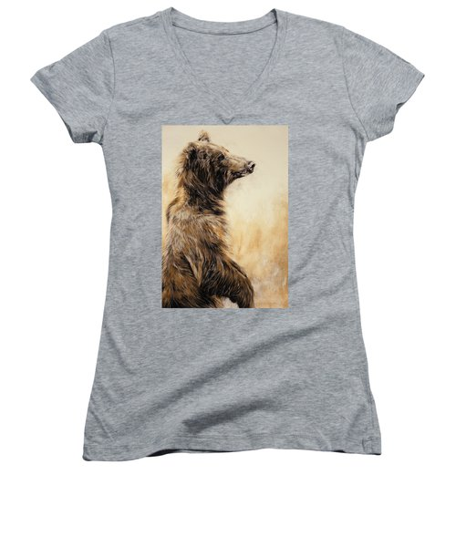 Grizzly Bear 2 Women's V-Neck T-Shirt