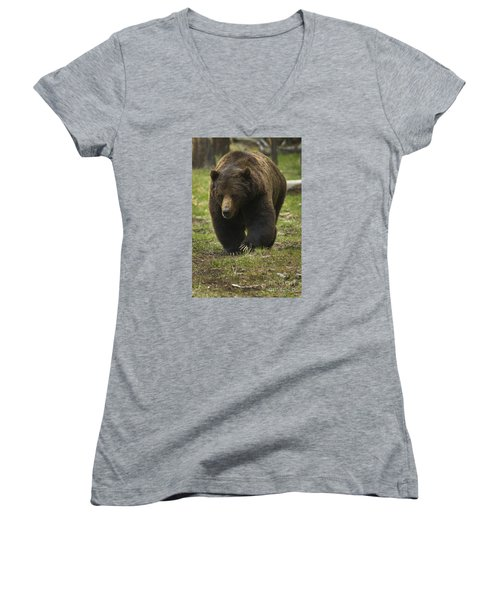 Grizzly Boar-signed-#7914 Women's V-Neck (Athletic Fit)