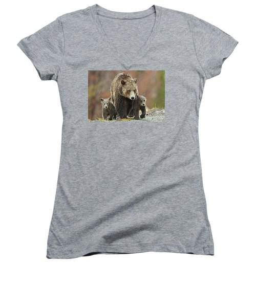 Grizzly Family Women's V-Neck