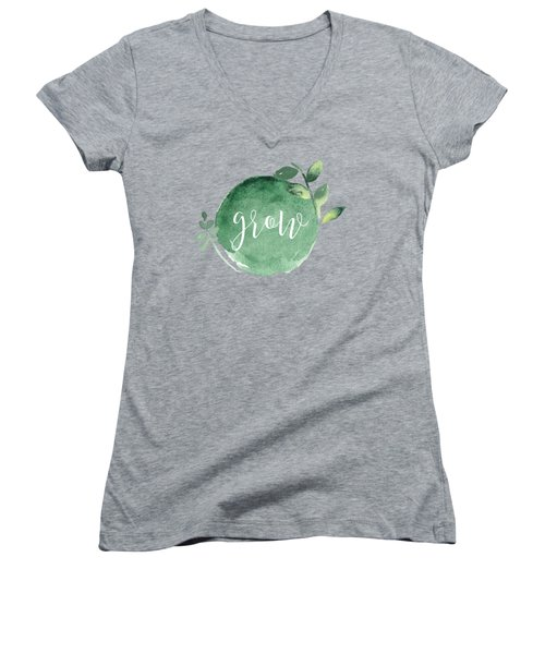 Grow Women's V-Neck T-Shirt (Junior Cut)