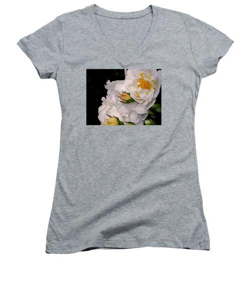Growing Like The Wind Women's V-Neck T-Shirt (Junior Cut) by Lynda Lehmann