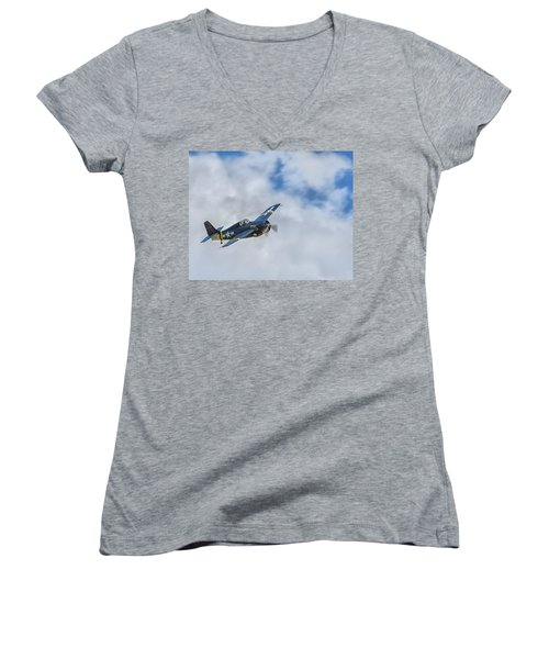 Grumman F4f Wildcat Women's V-Neck