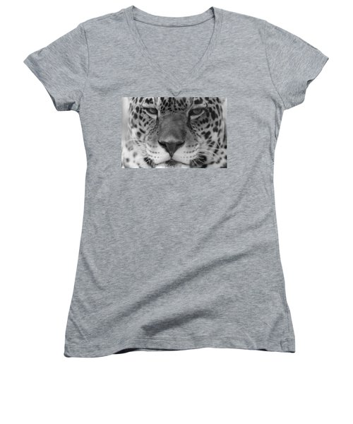 Grumpy Tiger  Women's V-Neck (Athletic Fit)