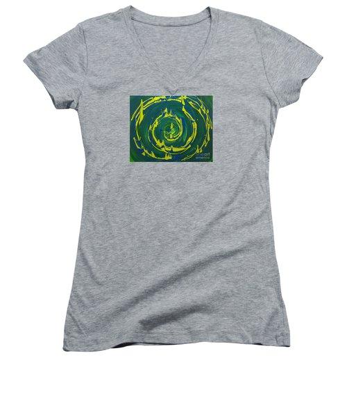 Guacamole Swirl Women's V-Neck T-Shirt