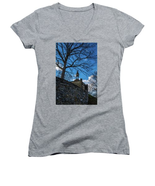 Guarded Summit Memorial Women's V-Neck T-Shirt