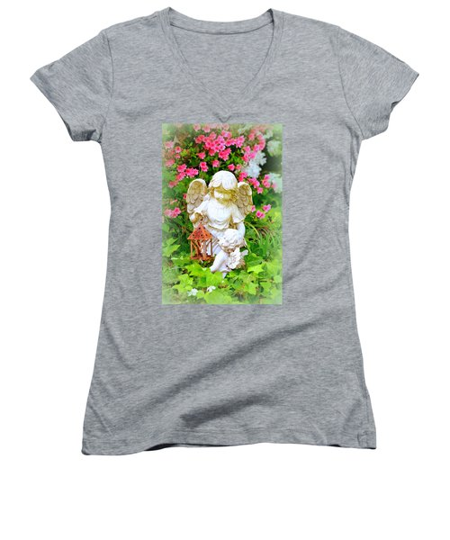 Guardian Angel Women's V-Neck T-Shirt
