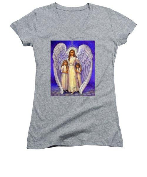 Guardian Angel Women's V-Neck
