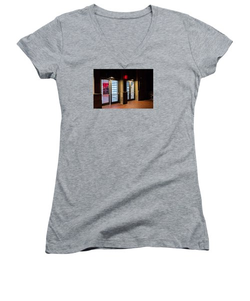 Women's V-Neck T-Shirt (Junior Cut) featuring the photograph Guarding The Door by M G Whittingham