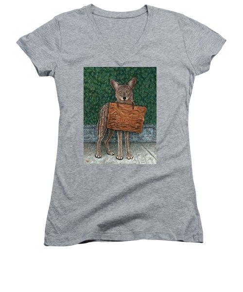 Gucci Coyote Women's V-Neck T-Shirt