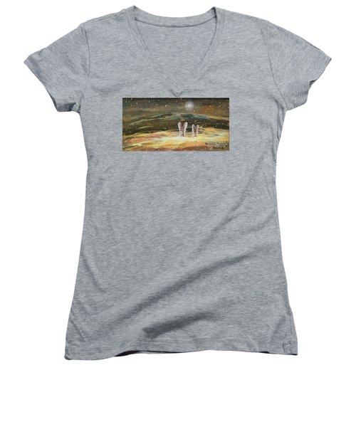 Guiding Light Women's V-Neck T-Shirt