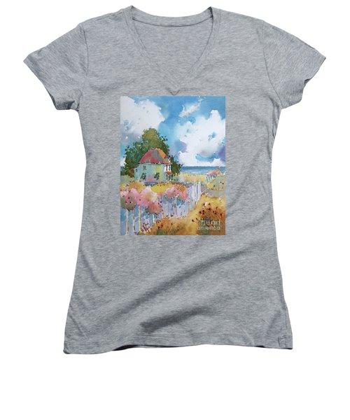 Gulf Coast Cottage Women's V-Neck T-Shirt