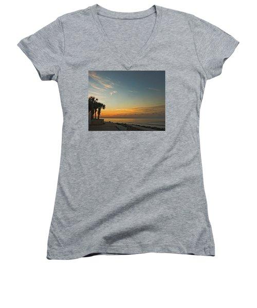 Gulf Of Mexico Sunrise Women's V-Neck T-Shirt