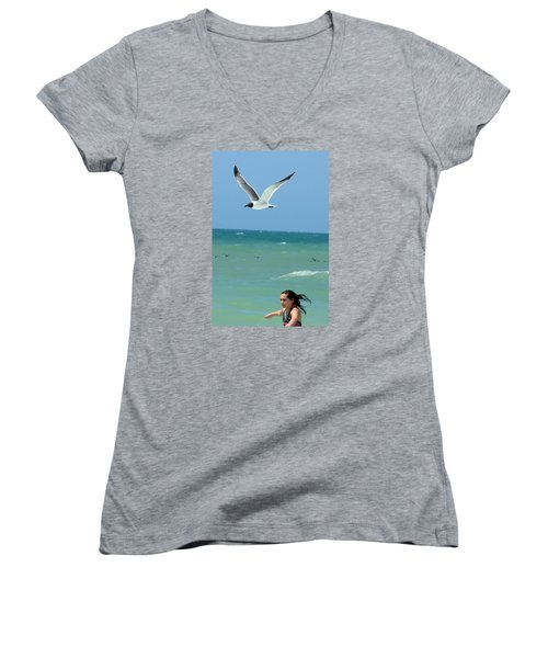Gull And Girl Women's V-Neck