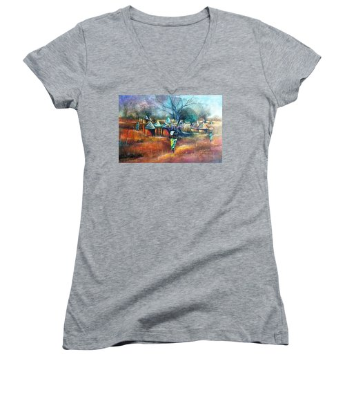Gwari Village In Abuja Nigeria Women's V-Neck T-Shirt