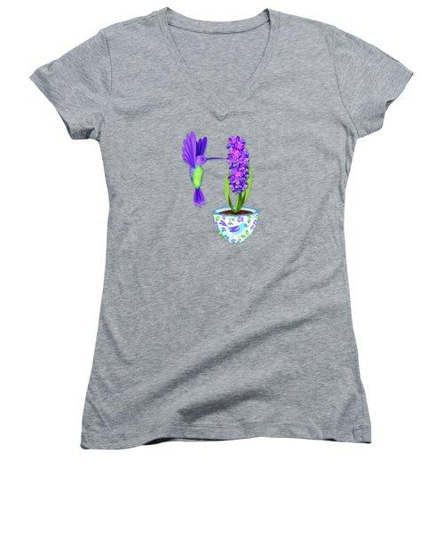 H Is For Hummingbird Women's V-Neck