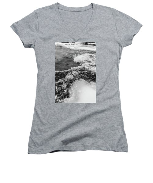 Women's V-Neck T-Shirt featuring the photograph H2O by Alex Lapidus