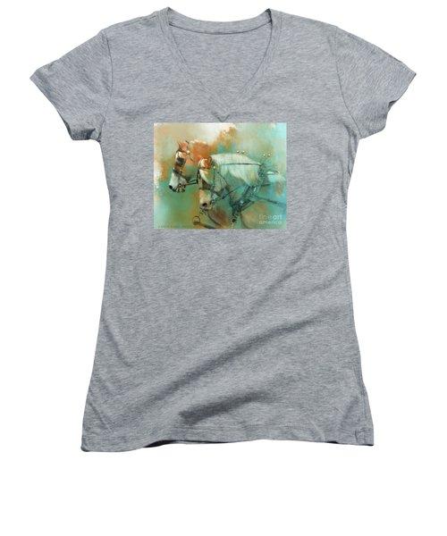 Haflinger Team Women's V-Neck T-Shirt