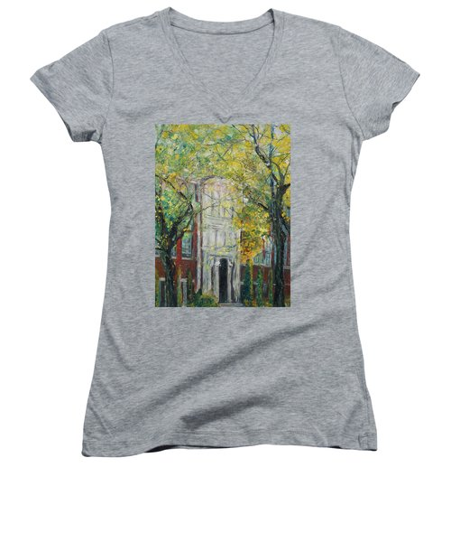 Hail Ole Malvern High School Women's V-Neck T-Shirt (Junior Cut) by Robin Miller-Bookhout