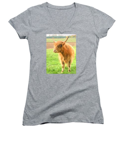 Hairy Coos Women's V-Neck