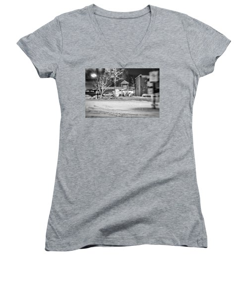 Hale Barns Square In The Snow Women's V-Neck