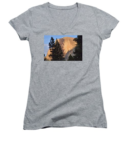 Half Dome Sunset Women's V-Neck (Athletic Fit)