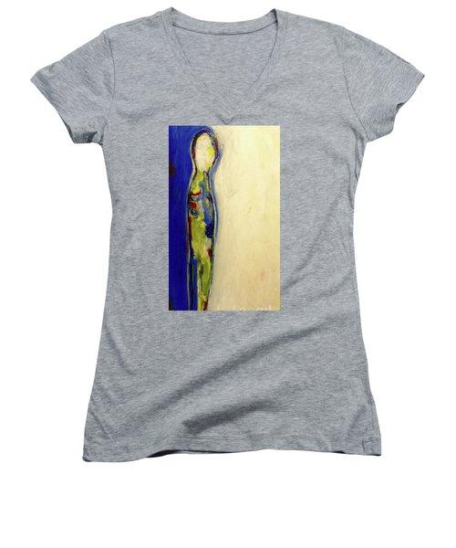 Half Man Half Blue Women's V-Neck T-Shirt