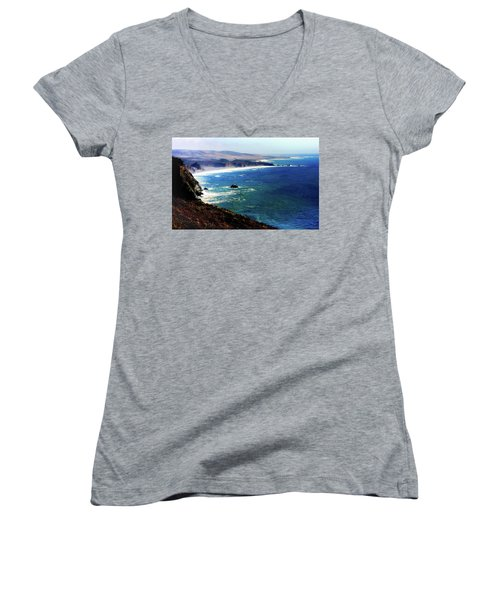 Half Moon Bay Women's V-Neck T-Shirt