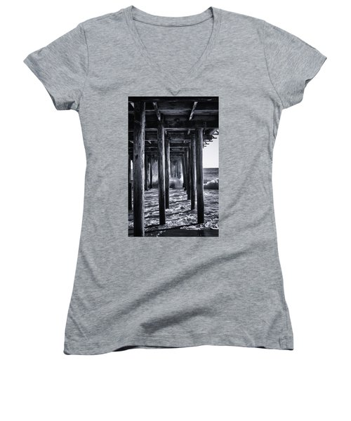 Hall Of Mirrors Women's V-Neck T-Shirt (Junior Cut) by Lora Lee Chapman