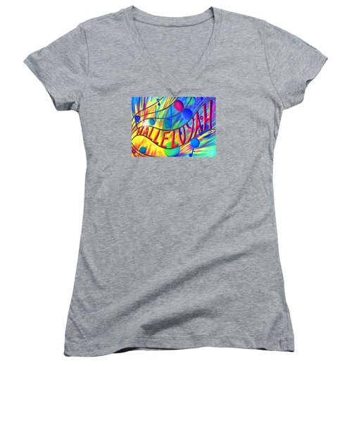 Halleluyah Women's V-Neck (Athletic Fit)