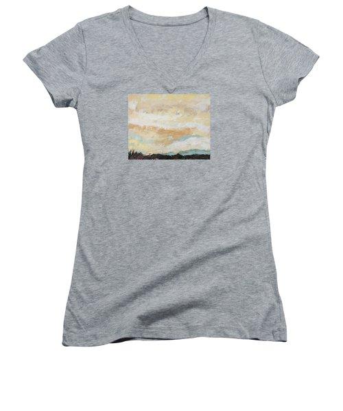 Hallowed Women's V-Neck T-Shirt (Junior Cut) by Nathan Rhoads