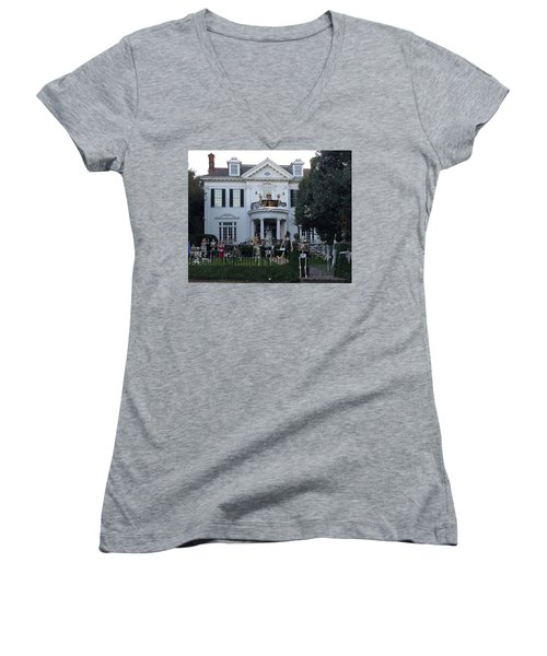 Halloween Decor New Orleans Style Women's V-Neck (Athletic Fit)