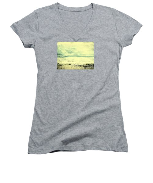 Hallucination On A Beach Women's V-Neck (Athletic Fit)